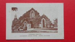 2 Postcards.LOURDES GROTTO/GUARDIAN ANGEL HOME,JOILET - Joliet