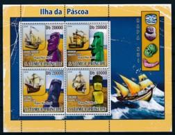 D - [400688]TB//**/Mnh-Sao Tomé-et-Principe 2009 - ïles De Pâques, Bateaux - Rapa Nui (Ile De Pâques)
