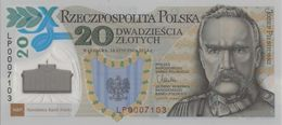 Polen Gedenkbanknote 16.01.2014 Polymer  UNC - Pologne