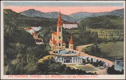 Feldpost 11. Komp. R.E.R. 14 Feldpoststation 14 - 16.2.15, AK Lourdes Basilika - Occupation 1914-18