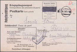 Kriegsgefangenenpost Stalag IV A Hohnstein Postkarte Tarnstempel 31.3.1943 - Germany