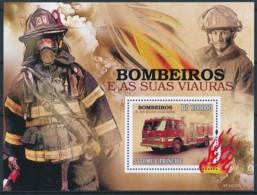 D - [401665]TB//**/Mnh-Sao Tomé-et-Principe 2009 - Véhicules De Pompiers - Pompieri