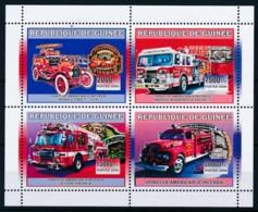 D - [401932]TB//**/Mnh-Guinée 2006 - Véhicules Américains D'incendie, Camions, Sapeurs-Pompiers - Pompieri