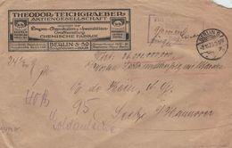 [A5] Theodor Teichgraeber AG Drogen Chemikalien Berlin 2.11.1923 - Wertbrief 36 Mia. Gebühr 910 Mio.- Seelze (rsA) - Pharmacy