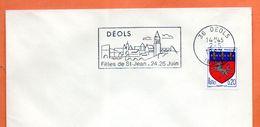 36 DEOLS   FETES DE ST JEAN  1967 Lettre Entière N° DE 631 - Marcophilie (Lettres)
