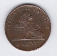 Belgique. Léopold I. 2 Ct 1856. TTB-. Morin # 104a (petit Chiffres) - 1831-1865: Leopold I