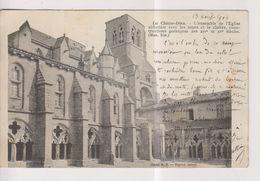 CPA-43-Haute Loire- La CHAISE-DIEU- Ensemble De L'Eglise Abbatiale Avec Les Tours Et Le Cloître... - La Chaise Dieu
