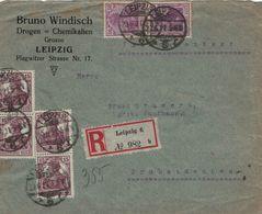 Bruno Windisch Leipzig Drogen Chemikalien - R-Brief Probstdeuben - Germania 20.6.1921 Infla - Pharmacy
