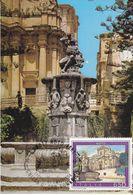 Carte- Maximum  ITALIE  N° Yvert  1779 (NOTO - Fontana Di Ercole) Obl Sp Ill 1er Jour 1988 - Cartas Máxima