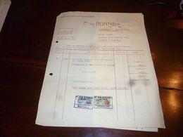 FF1 Document Commercial Facture F. De Ronne Evere 1953 Fauteil Siège - Belgien