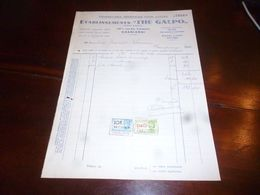 FF1 Document Commercial Facture Ets The Galpo Fourniture Pour Cycle Cyclisme Charleroi Vélos The Galpo Centuria 1944 - Belgien