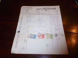 FF1 Document Commercial Facture Maison Louis Heusghem Vélos Cyclisme Ransart 1944 - Belgien