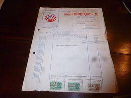 FF1 Document Commercial Facture Usines Hennebert Mons Matelas Fauteuil Kapok Laines Marque La Cigogne 1953 - Belgien