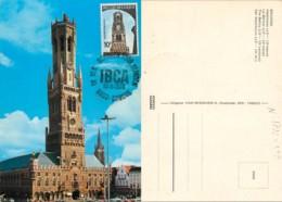 D - [516089]B/TB//-Belgique 1974 - N° 1722, BRUGGE - Le Belfroi - Halletoren - The Belfry - Der Wachtturm, U.P.U, Person - Maximumkarten (MC)