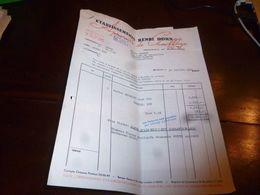FF1 Document Commercial Facture Ets Henri Horn Bruxelles 1952 Appareils De Chauffage - Belgien