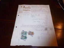 FF1 Document Commercial Facture A. Thuys Antwerpen Anvers Fabrique De Meubles Meubelen 1953 - Belgien
