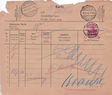 Belgique - COB OC 3 Sur Feuille D'avis / Berichtblad - Libramont Betrix 1917 - Guerre 14-18