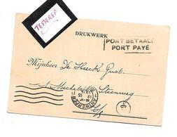 Noodstempel/Fortune PORT BETAALD/PORT PAYE   Antwerpen 13.12.1918 - Belgium