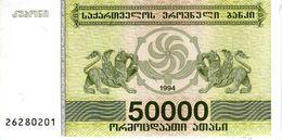 GEORGIE - Georgian National Bank  - 50 000 Laris (1994) - Série 26280201 - P.48a - UNC - Georgien