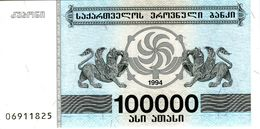 GEORGIE - Georgian National Bank  - 100 000 Laris (1994) - Série 06911825 - P.48A - UNC - Georgië
