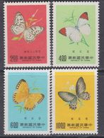 Taiwan N° 1129 / 32 XX Papillons De Formose,  La Série Des 4 Valeurs Sans Charnière, TB - 1945-... Republic Of China