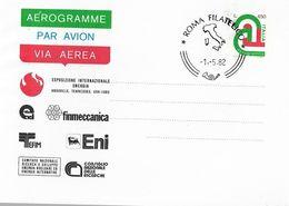 2 Aerogrammi : ESPOSIZIONE DELL'ENERGIA DI KNOXVILLE (1982)  AF_Roma - Interi Postali