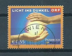 2003 Austria Licht Ins Dunkel Used/gebruikt/oblitere - 1945-.... 2ème République