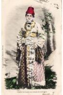CESAREE CEREMONIAL COSTUME  OLD COLOUR POSTCARD CAESAREA ISRAEL 1903 - Israel