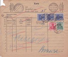 Belgique - 5p + 10p + 3x20p  Sur Feuille D'avis / Berichtblad - Libramont Betrix 1917 - Guerre 14-18
