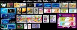 POLYNESIE Année Complète 2014 + BF (NEUF ** MNH) : Yv. 1048 à 1078 Dont Carnet + BF 40 Et 41  (39 Tp)  ..Réf.POL25082 - Polynésie Française