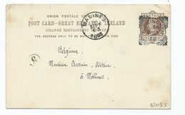 Great Britain Victoria Prepaid 1/2d Postcard  Squared Circle Birmingham INVERTED REVERSED 4 E94 Or B 94 - Brieven En Documenten