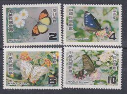 Taiwan N° 1187 / 90 XX Papillons De Taiwan : La Série Des 4 Valeurs Sans Charnière, TB - 1945-... Republic Of China