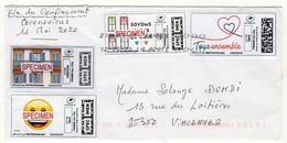France, Covid 19, Coronavirus, Lettre De 2020 Affranchie Avec Montimbrenligne - Poststempel (Briefe)