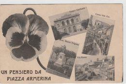 Cartolina - Un Pensiero Da Piazza Armerina - Enna