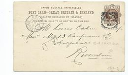 Great Britain Victoria Prepaid 1d Postcard  Squared Circle Birmingham H56 Cancel SEARCH ALSO MY POSTCARDS - Covers & Documents