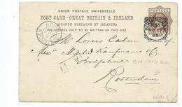 Great Britain Victoria Prepaid 1d Postcard  Squared Circle Birmingham H56 Cancel SEARCH ALSO MY POSTCARDS - Brieven En Documenten