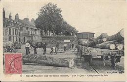 SAINT VALERY SUR SOMME Sur Le Quai.Chargement De Bois - Saint Valery Sur Somme