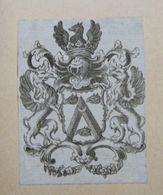 Ex-libris Héraldique Illustré XVIIIème - BELGIQUE - D'HANE - Ex Libris