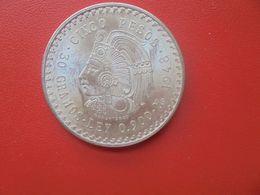 MEXIQUE 5 PESOS 1948 ARGENT QUALITE SUPERBE (A.10) - Mexico