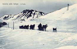 1692/ Inverno Dullo Spluga, La Posta, Paarden Met Sleeen. - Italie