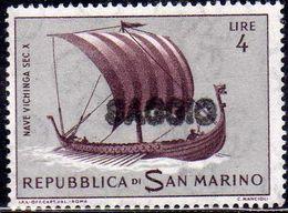 REPUBBLICA DI SAN MARINO 1963 STORIA DELLA NAVIGAZIONE NAVI SHIPS LIRE 4 SAGGIO ESSAY MNH - Neufs