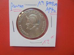 PANAMA 1/2 BALBOA 1970 ARGENT (A.10) - Panamá