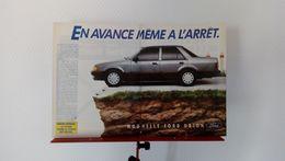 Publicité De Presse De 1986 Ford Escort Ghia Injection - Voitures