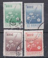 Taiwan N° 1237 / 40  O Fleur Nationale ( Prunier) : Les 4 Valeurs  Sans Charnière, TB - 1945-... République De Chine