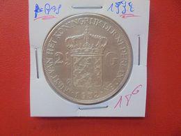 PAYS-BAS 2 1/2 GULDEN 1932 ARGENT (A.10) - [ 3] 1815-… : Royaume Des Pays-Bas