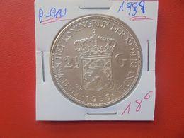PAYS-BAS 2 1/2 GULDEN 1938 ARGENT (A.10) - [ 3] 1815-… : Kingdom Of The Netherlands