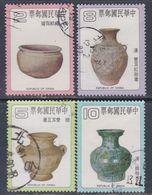 Taiwan N° 1251 / 54 O Poteries Anciennes Chinoises: La Série Des 4 Valeurs  Oblitérées TB - 1945-... République De Chine
