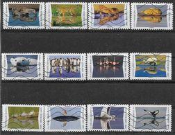2020 FRANCE Adhesif 1815-26 Oblitérés, Reflet Animaux, Série Complète - Sellos Autoadhesivos