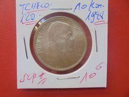 TCHECOSLOVAQUIE 10 KORUN 1928 ARGENT QUALITE SUPERBE+++ (A.10) - Czechoslovakia