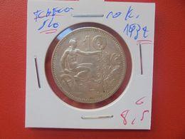 TCHECOSLOVAQUIE 10 KORUN 1932 ARGENT (A.10) - Czechoslovakia